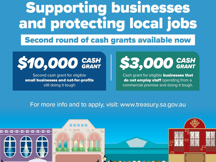 Cash Grants for South Australian businesses